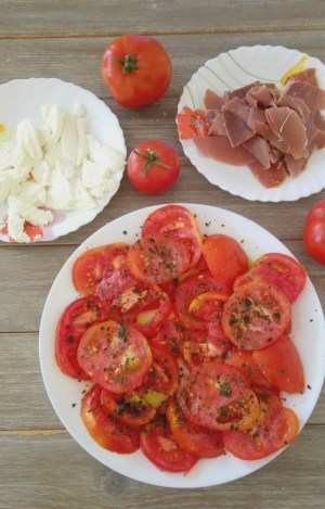 brschetta aux tomates et mozzarella