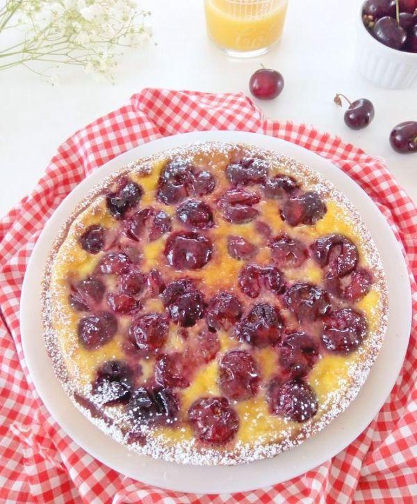 tarte clafoutis aux cerises