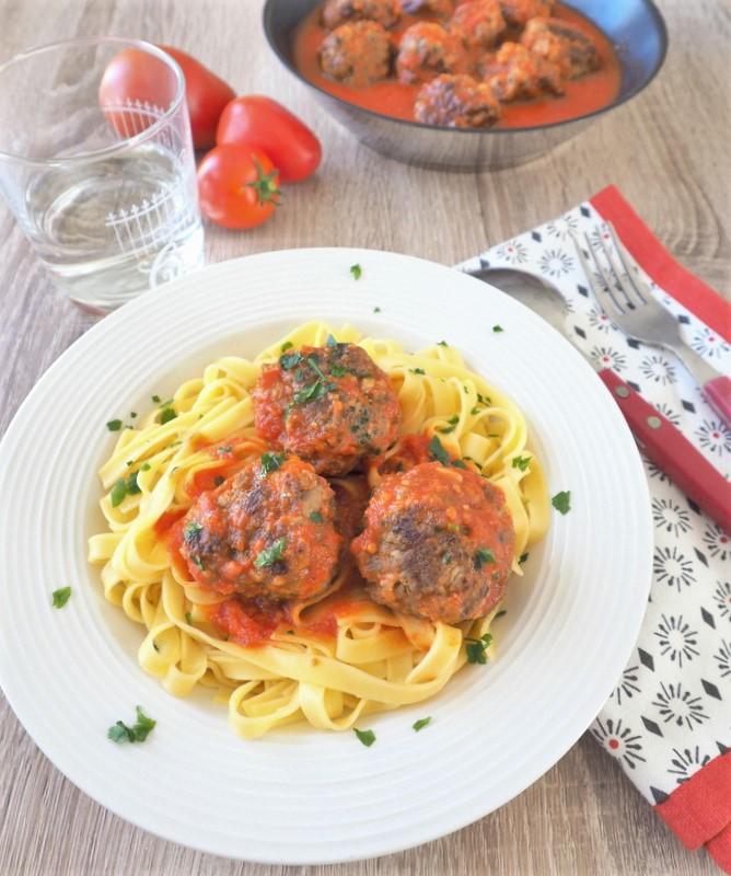boulettes de viande sauce tomate