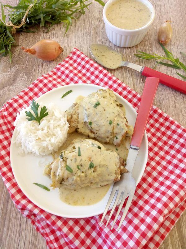 recette de poulet à l'estragon