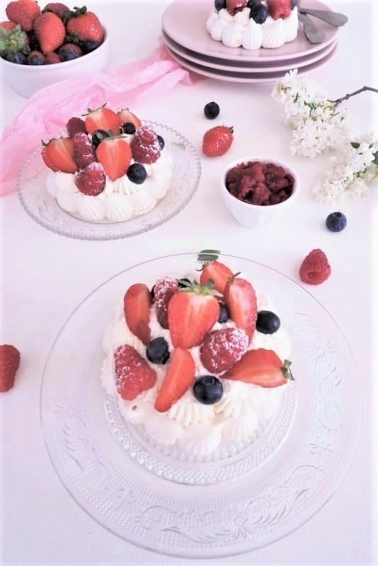pavlova fraises - les petits secrets de lolo