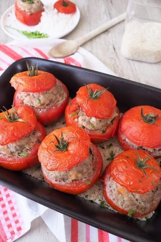 tomates farcies et riz
