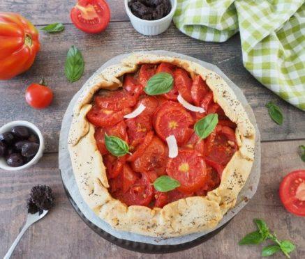 recette de tarte aux tomates et tapenade