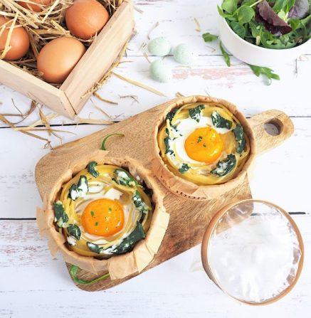 Nid de Pâques œuf cocotte