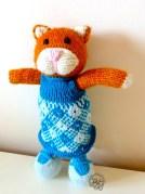 Citrouille chaton tricoté