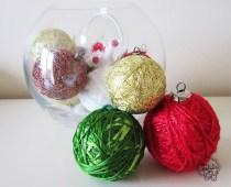 Les Petits boules de Noël laine