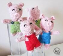 Les Petits cochons crochet