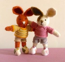 tricot Les Petits lapins peluche