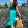 robe longue bretelles ceinture boutique les piplettes