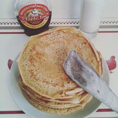 Pancakes sans gluten au lait d'amande