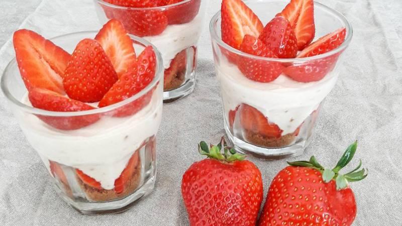 Verrines fraises spéculoos