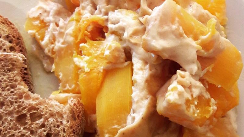 Gratin de butternut à la crème de cacahuètes