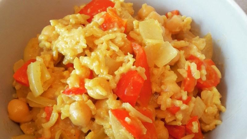 Curry végétarien aux poivrons rouges