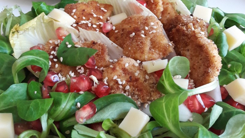 Salade craquante poulet grenade