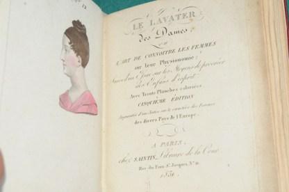 Le Lavater des Dames ou l'art de connoitre les femmes sur leur Physionomie, Paris, Saintin, 1831