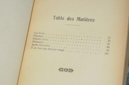 DIVOIRE, Faut-il devenir mage ? Paris, bibliothèque des entretiens idéalistes, H. Falque, 1909