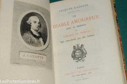 CAZOTTE, Le Diable amoureux, Paris, Librairie des bibliophiles Jouaust, 1883