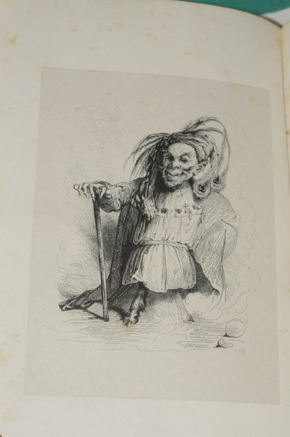 LE SAGE, Le Diable boiteux, illustré par Tony Johannot, Paris, Ernest Bourdin, 1845