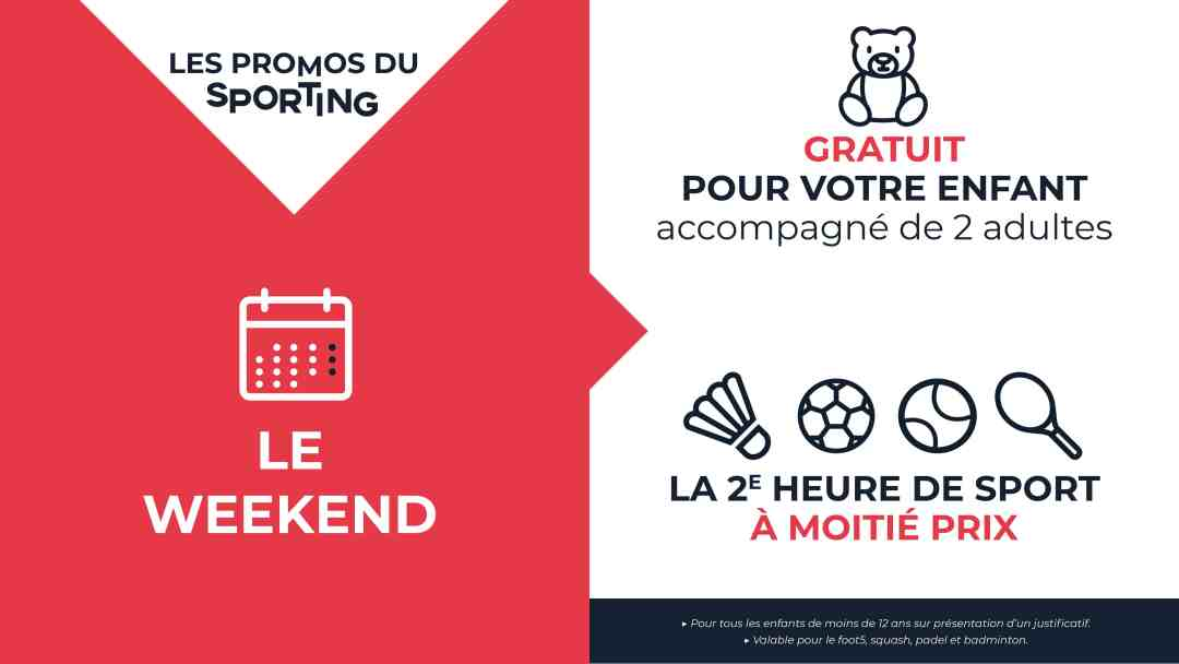 Promotions week-end