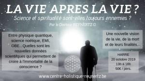 La vie après la vie ? @ Centre de Santé Holistique de Harre - Docteur Geoffrey Reynertz | Harre | Wallonie | Belgium