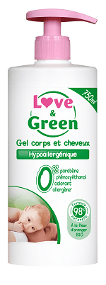 gel lavant love & green