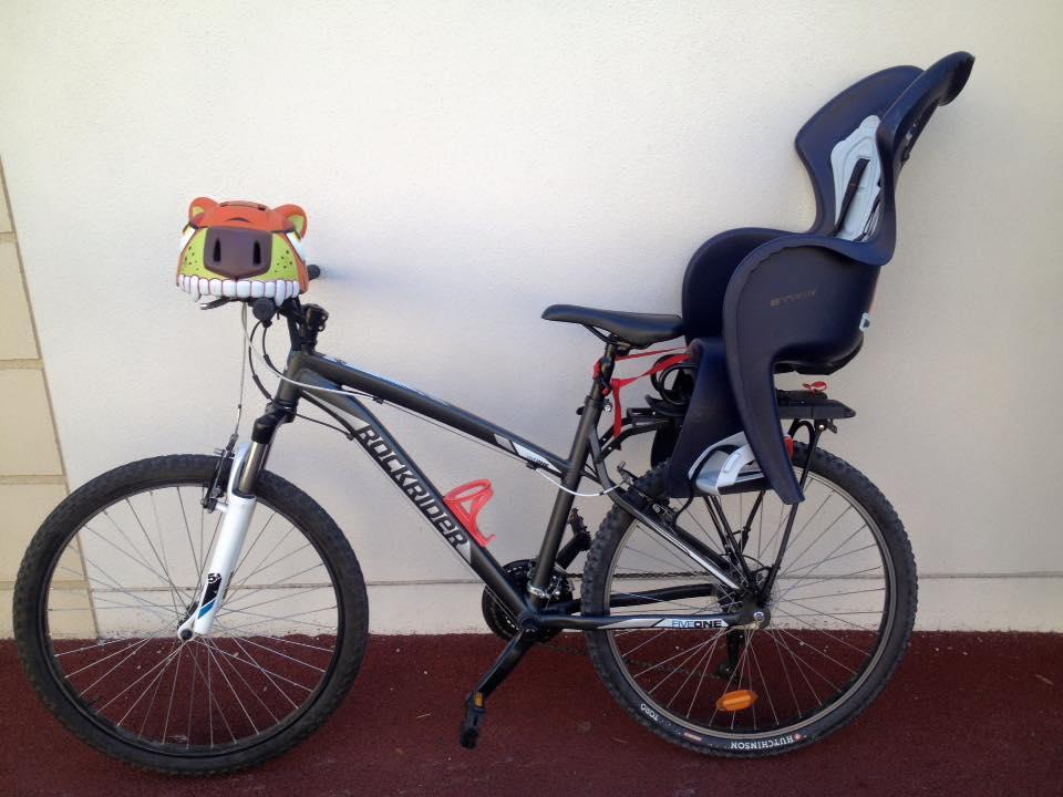vélo siège bébé