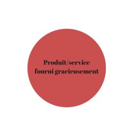 Produitservice fourni gracieusement
