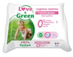 lingettes bébé sans parfum love&green