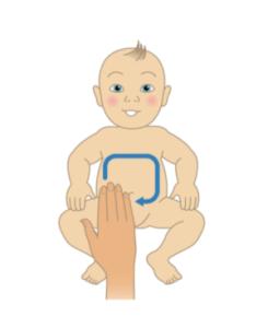 constipation de bébé massage
