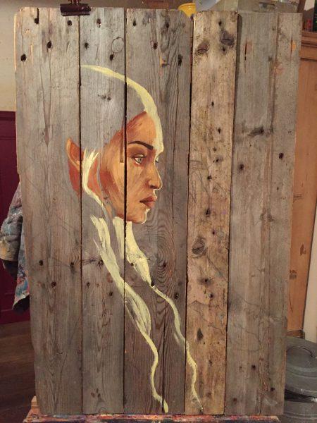 wip peinture bois daenerys targaryen