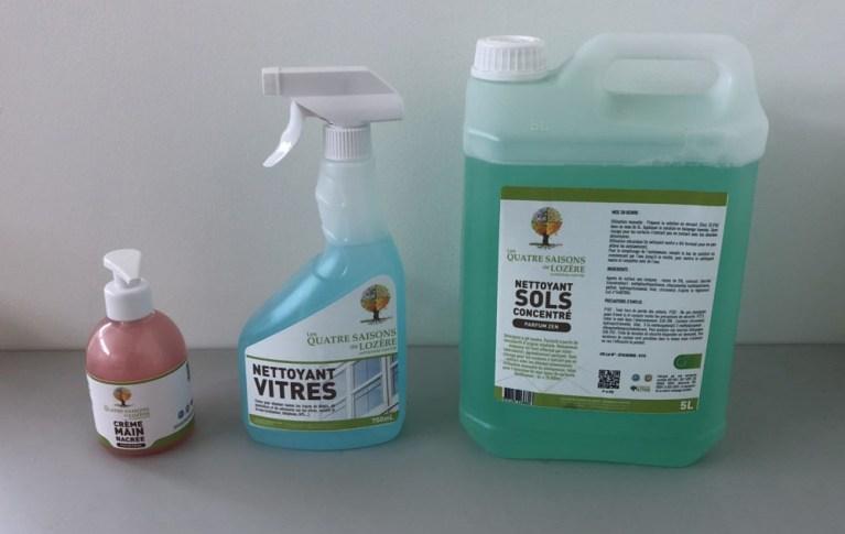 Les Quatre Saisons de Lozère se met au vert avec des produits d'entretien écologique !
