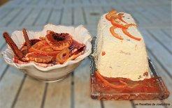 Nougat glacé et sa soupe d'orange aux épices