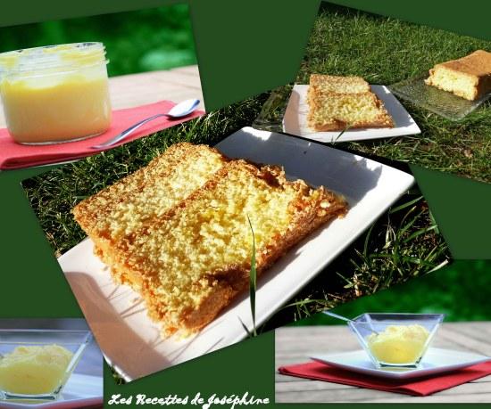Lemon Curd et Cake dans l'herbe