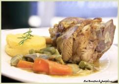 Souris d'agneau aux épices et sa polenta