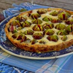 Tarte aux figues et à la crème de figues