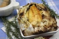 poulet fermier en croûte de sel