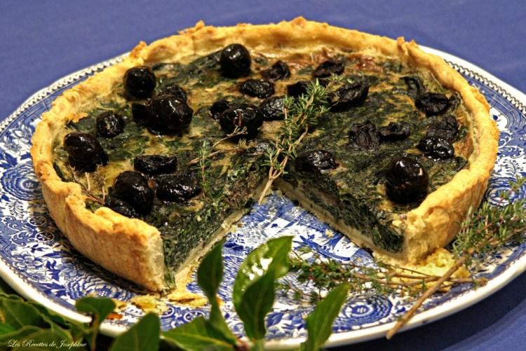 Tarte aux olives et épinards 3 w