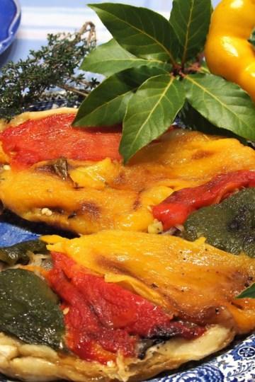 tarte Tatin aux poivrons