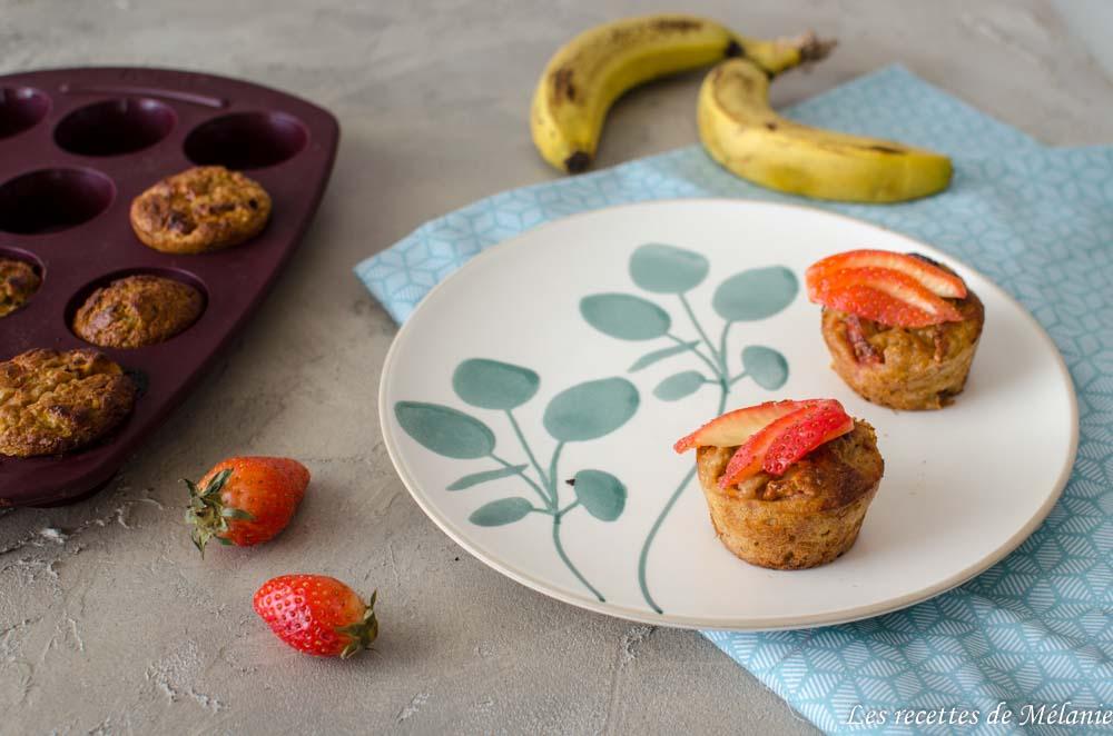 Muffins légers fraise/banane