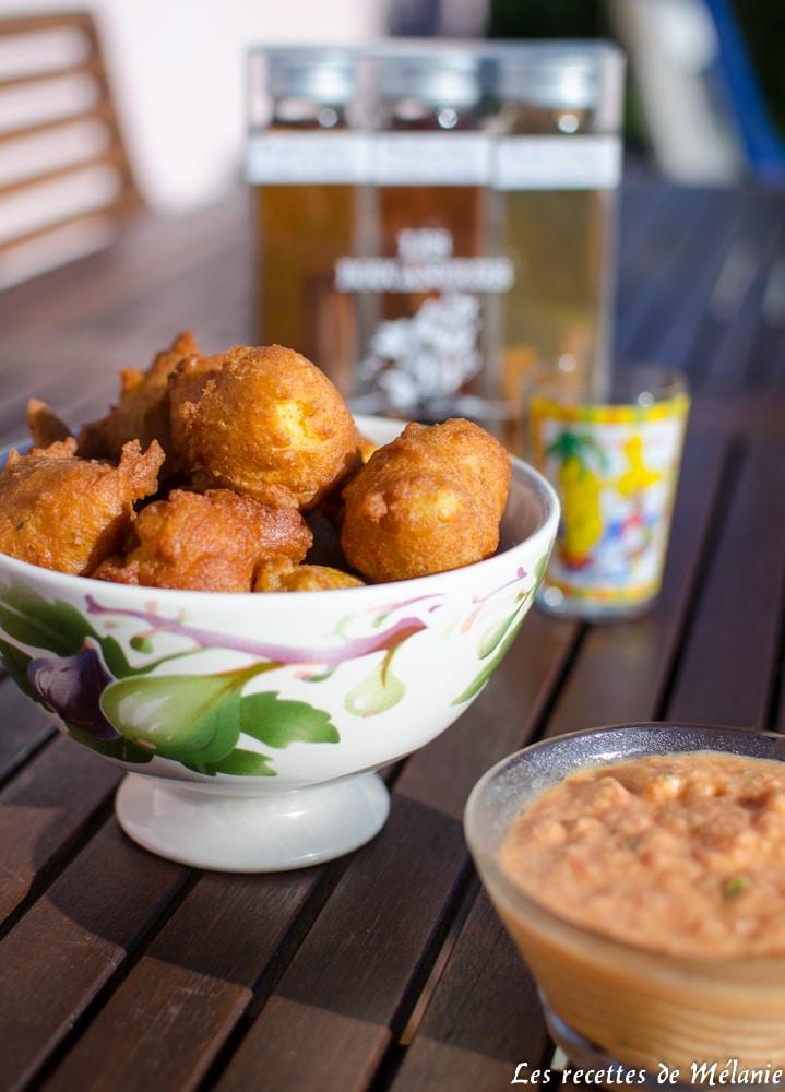 Accras de crabe sauce rougail pour la bataille food 34