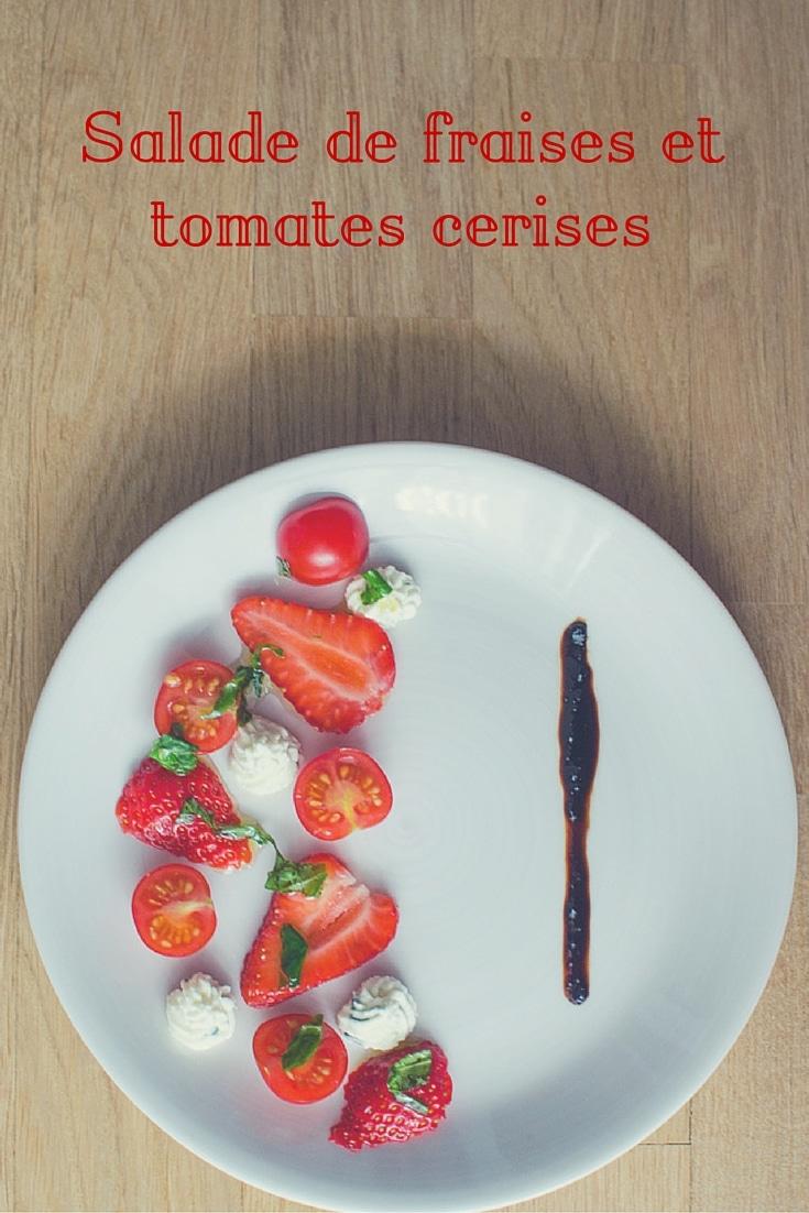 Salade de fraises et tomates cerises