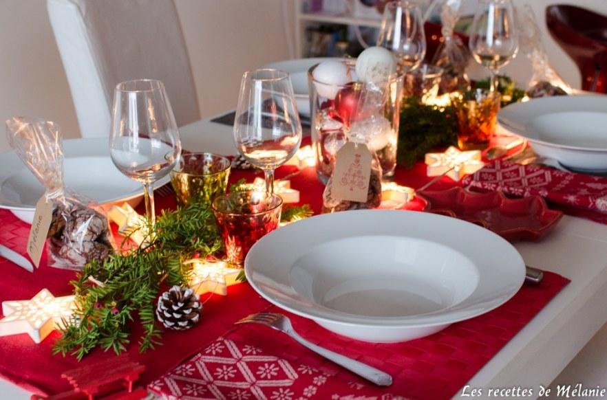 une decoration de table pour noel