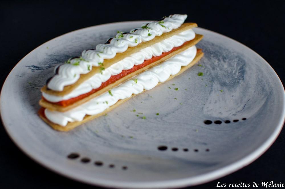Mille-feuille saumon et citron vert