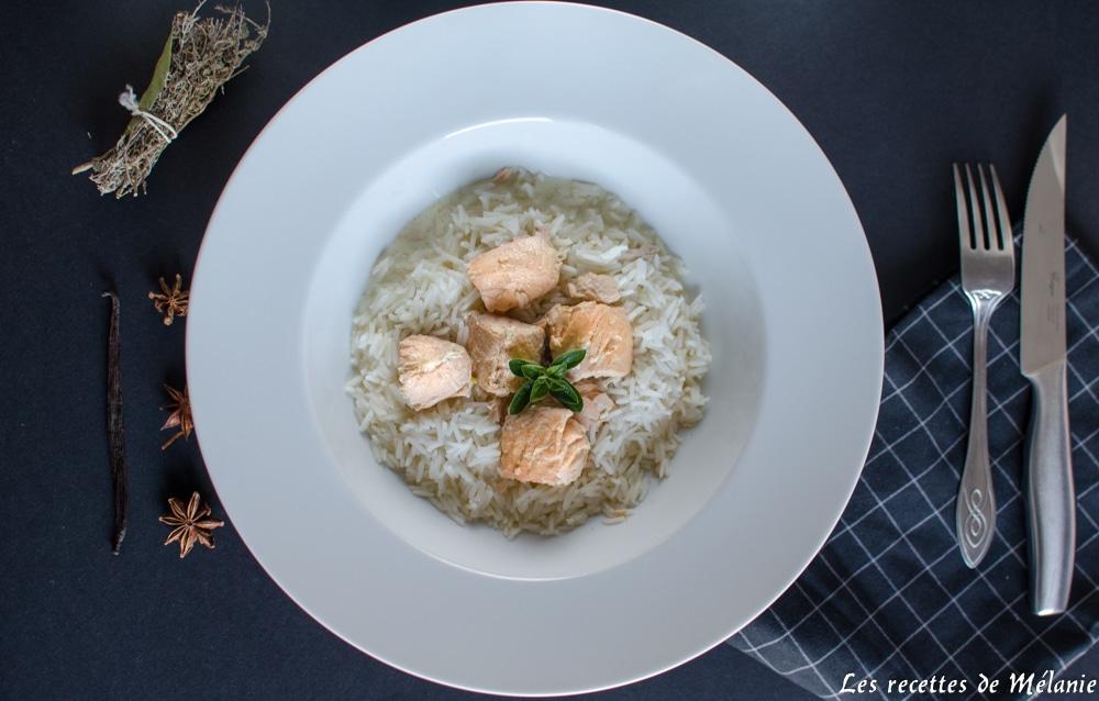 Blanquette de saumon à la vanille