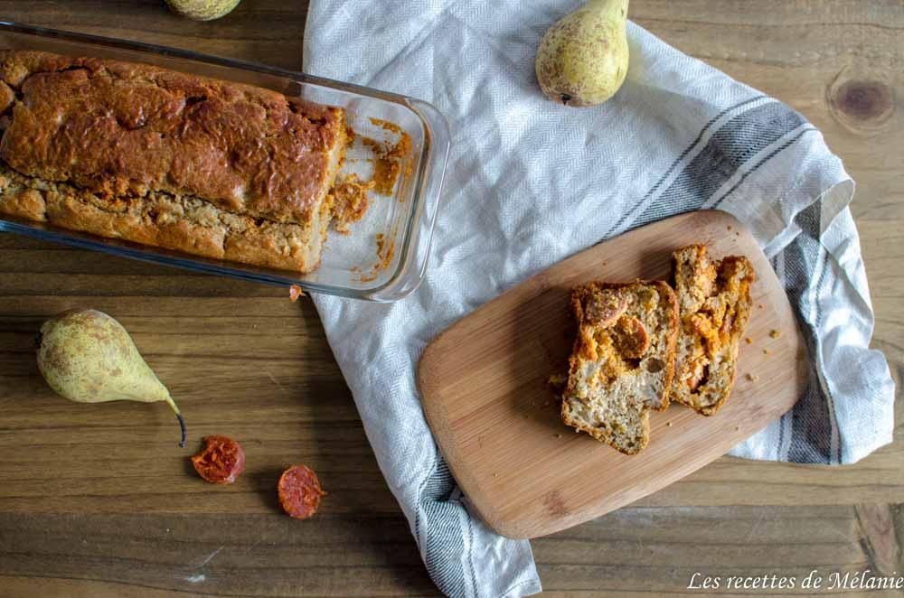Cake poire chorizo pour l'apéro!