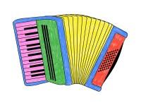 accordeon couleur