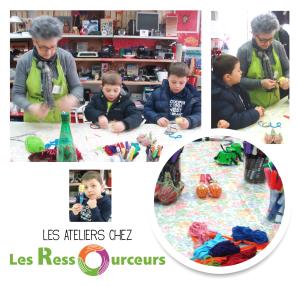 Ateliers recup'créative chez Les Ressourceurs