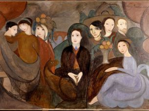 Marie Laurencin, Apollinaire et ses amis, 1909