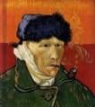 Vincent Van Gogh, autoportrait à l'oreille coupée 1889