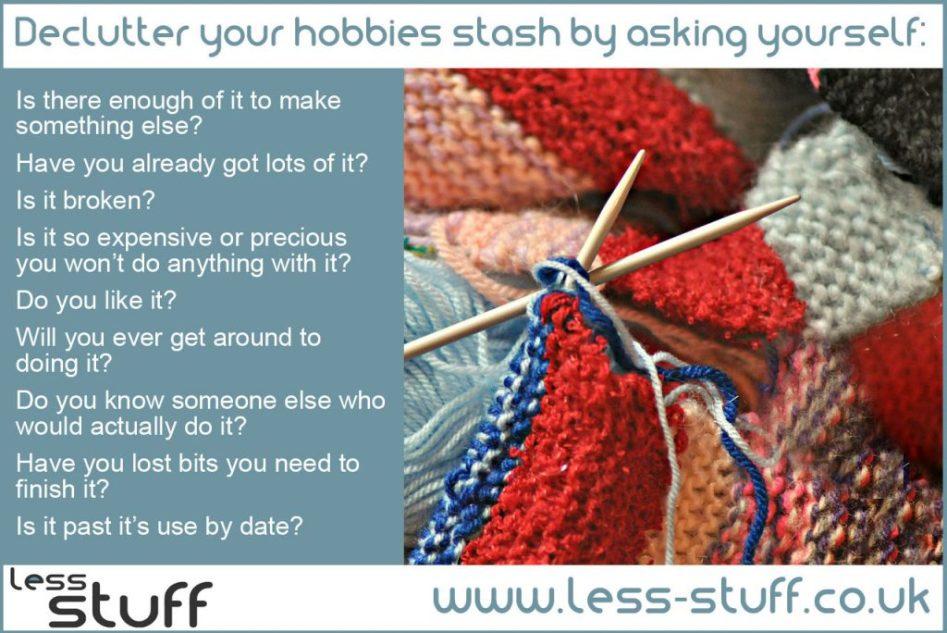declutter hobbies stash